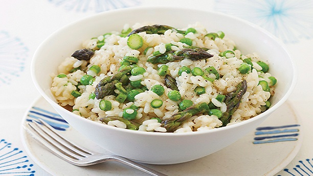 Asparagus and Green Pea Risotto Recipe