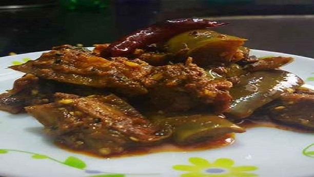 Baigan ka achar (brinjal pickle)