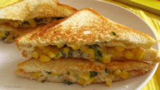 Baked Corn Cheez Sandwich Recipe