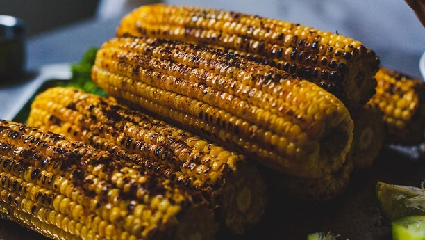 Barbecued Corn With Chilli and Lime - Bhuta