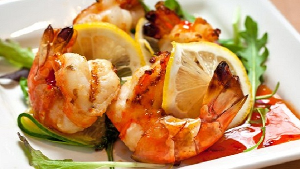 Barbecued Garlic Prawns