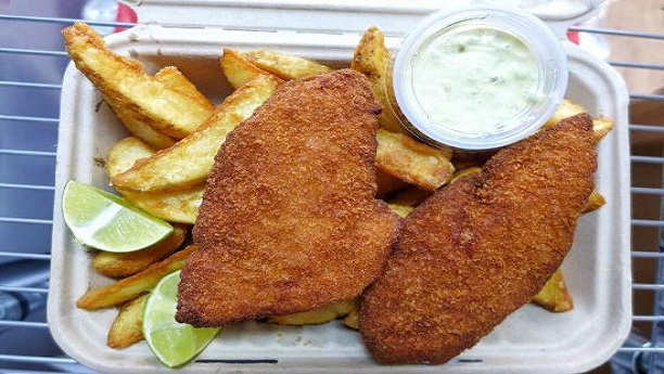 Batter Fried Fish and Chips By Shireen Anwar