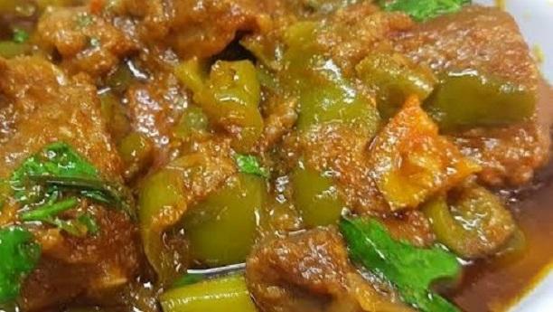 Beef Shimla Mirch Karahi