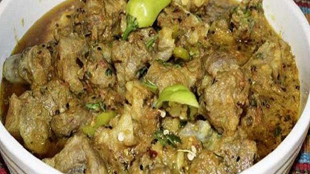 بہاری گرین کڑاہی گوشت<br/>Bihari Green Karahi Gosht