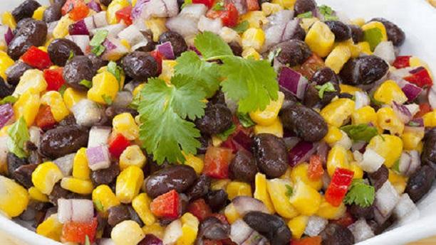 Black Bean & Corn Salad By Chef Fauzia Recipe