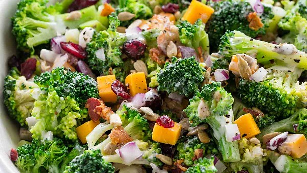 Broccoli Salad By Chef Fauzia Recipe