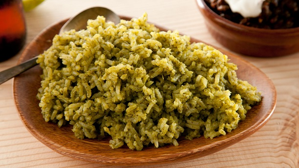Butter And Green Chili Rice Recipe