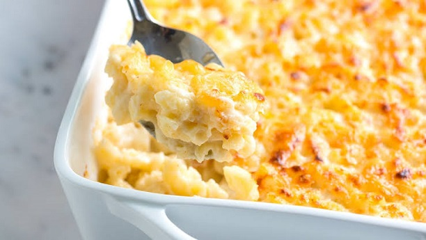 Cheese And Cream Baked Macaroni