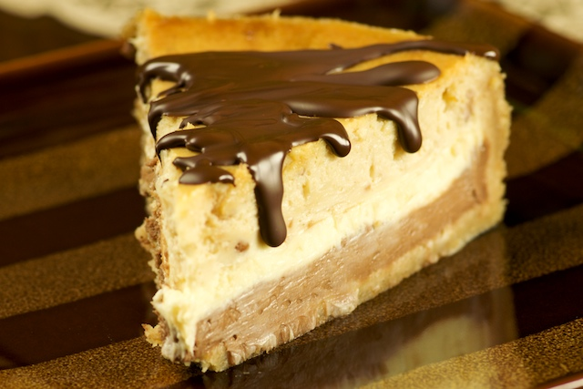 Cheese Cake with Peanut Butter Ganache