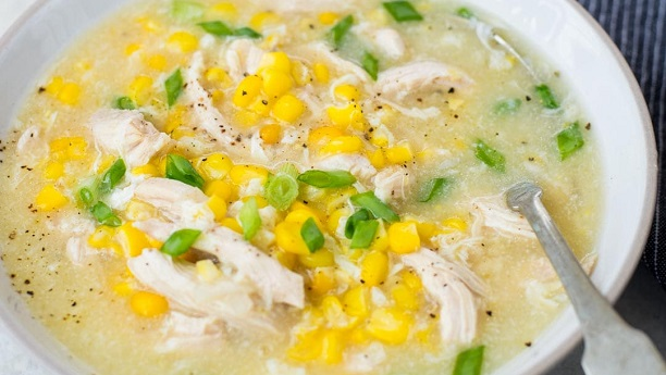Chicken Corn Egg Soup Recipe