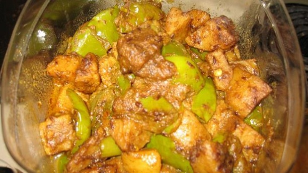 Chicken Shimla Mirch K Sath