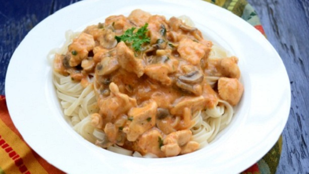 Chicken Stroganoff with Paste By Shireen Anwar