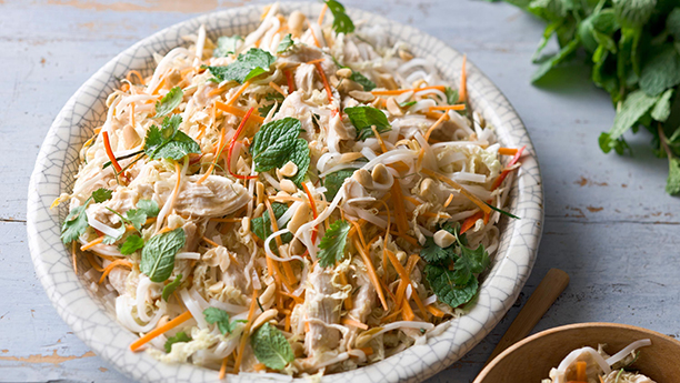Chicken and Rice Noodle Salad