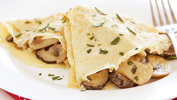 Chicken and mushroom crepes By Shireen Anwar