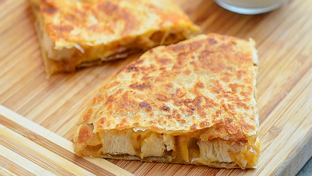 Chicken and onion cheese Quesadillas