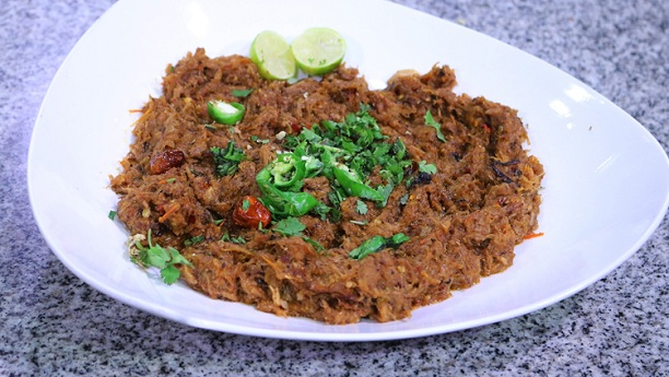Chicken qeema curry