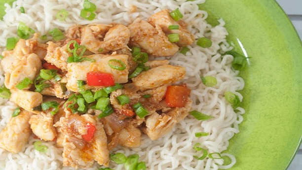 Chinese Chicken Spicy Rice  Recipe