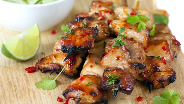 Cilantro Chili Chicken Skewer