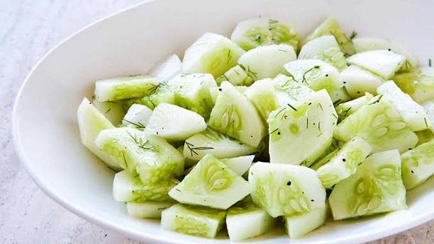 Cucumber Salad By Chef Fauzia Recipe