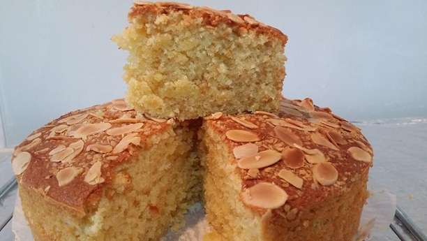 Dry Almond Butter Cake Recipe