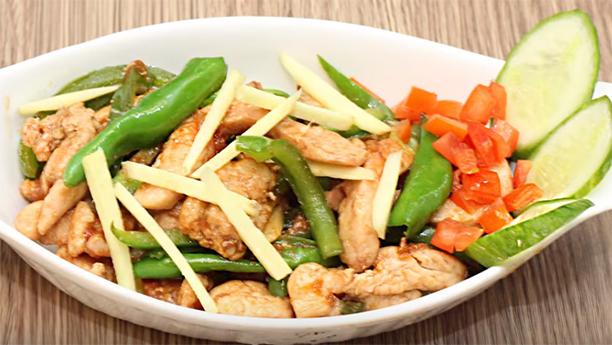 Dry chicken chilli Recipe