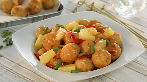 Fish Balls and Vegetable Salad