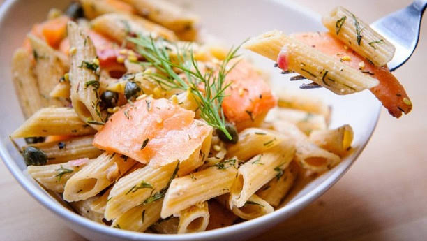 Fish Penne Pasta with Cheese