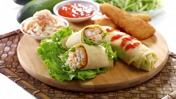 فش رول سلاد<br/>Fish Roll Salad
