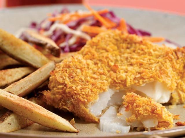 فرائیڈ فنگر فش اینڈ چپس<br/>Fried Finger Fish And Chips