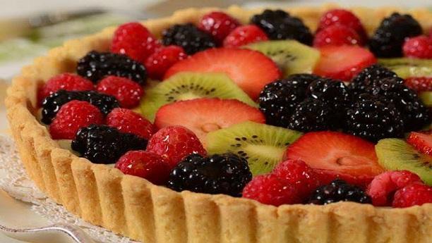 Fruit Custard Cake Recipe