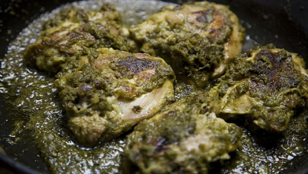 Green Masala Chicken Recipe