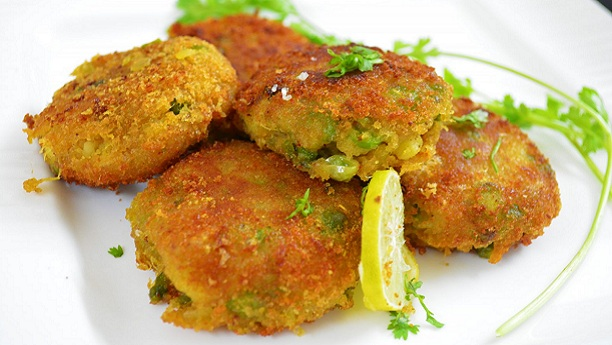 Green Masala Potato Cutlets