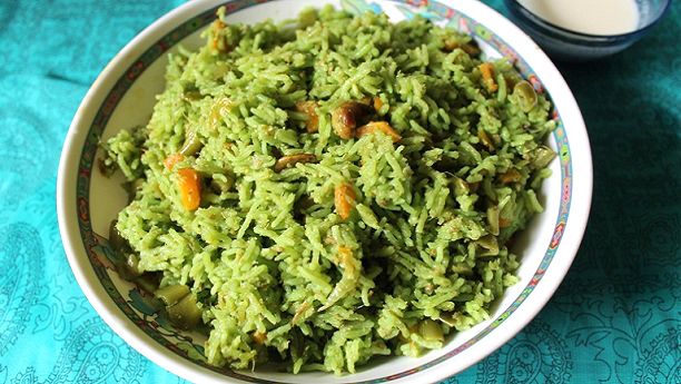 Green Masala Rice