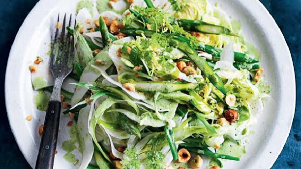 Green Vegetable Salad By Chef Fauzia