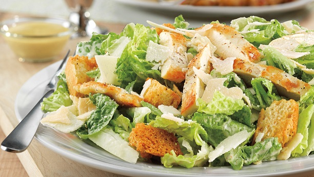 Grilled Chicken Caesar Salad By Chef Fauzia Recipe
