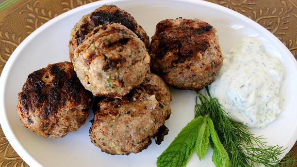 Grilled Meat Balls (Kabab Ruksand)