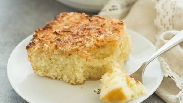 Hot Milk Coconut Cake Recipe