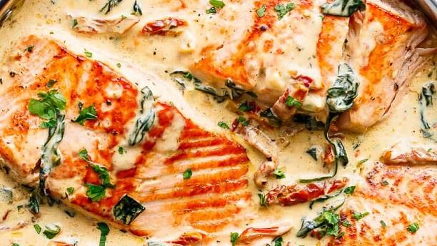 Italian Fried Fish Ravioli with Garlic Bechamel