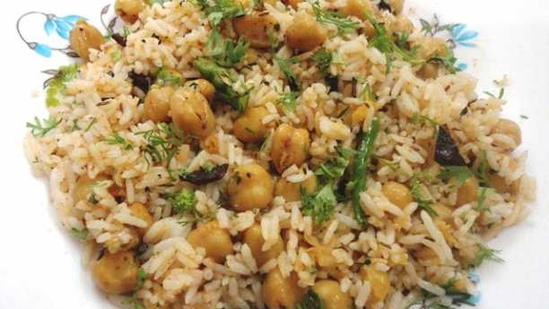 Kabuli Chana Pulao Biryani Recipe