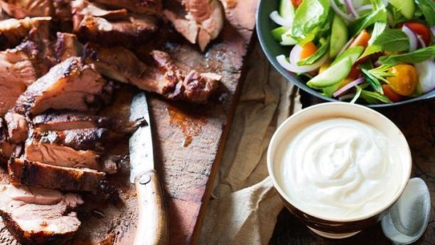 Lamb with Garlic Sauce