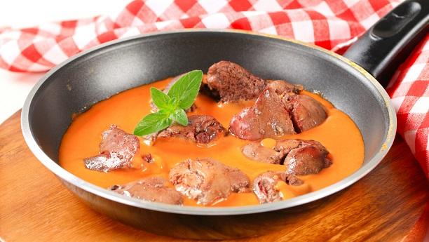 Liver in Tomato Sauce (Kaleja Tamatar)