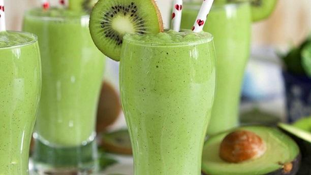 Low Fat Kiwi Fruit Milk Shake
