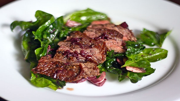 Meat with Spinach