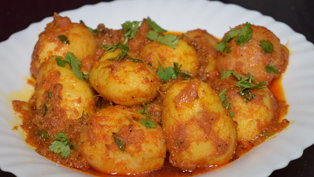 Meatballs Dum Aloo Chaat Recipe