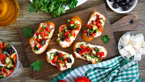 Mediterranean Crostini  Recipe