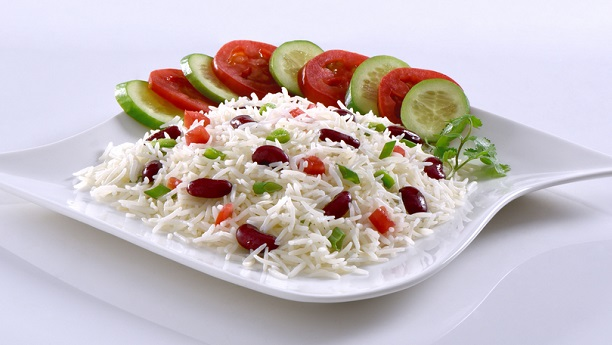 Minted Rice With Tomato And Sprouted Beans