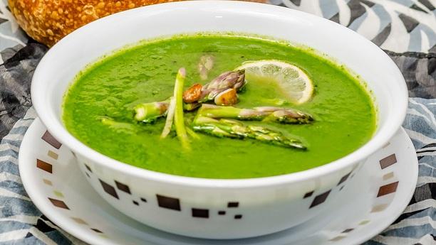 مٹر پالک کا سوپ