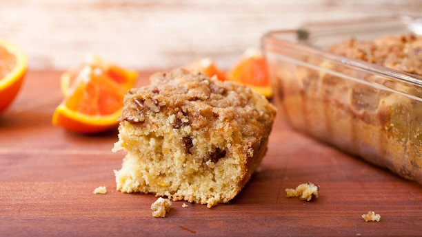 Orange crumbled cake