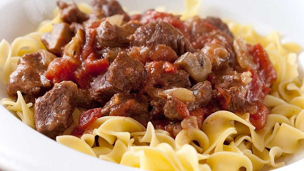 Pasta Beef Casserole By Chef Fauzia Recipe