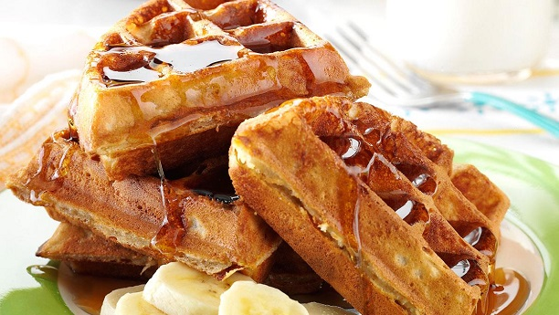 Peanut Butter-Banana Waffle